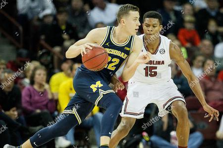 Editorial picture of NCAA Basketball: Michigan vs USC, Columbia, USA - 23 Nov 2016