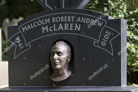 Grave of artist Malcolm McLaren, Highgate Cemetery, London, England, United Kingdom