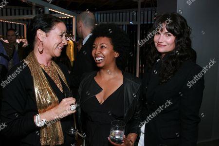 Lisa Eisner, Brigette Romanek and Rosetta Getty