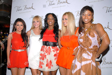Stock Image of Aundrea Fimbres, Shannon Bex, Dawn Richard, Aubrey O'Day, and D. Woods