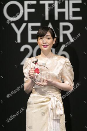 Stock Image of Novelist Sayaka Murata attends the Vogue Japan Women of the Year 2016 Awards