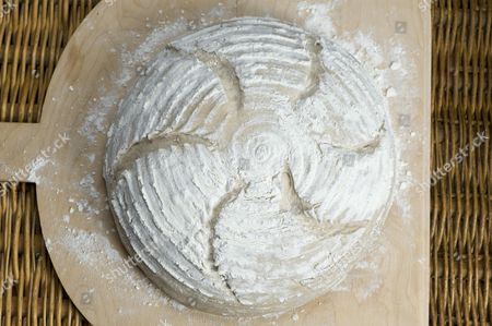 Rye bread floured with Manitoba flour and cut, recipe is available