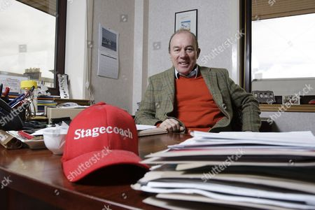 Stock Image of Scottish businessman Brian Souter. Souter co-founded Stagecoach