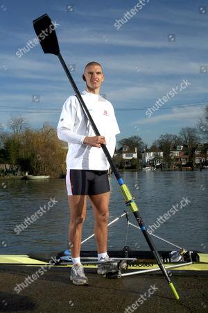 Mo Sbihi, rowing Olympic hopeful on the river.