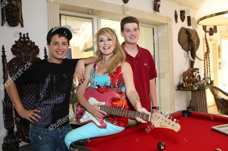 Audrey Landers and sons Daniel and Adam