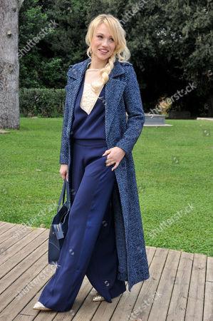Stock Picture of Chiara Mastalli wearing a Dress Twin Set
