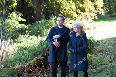 Ep 9054 Monday 12 December 2016 - 1st Ep When Andy Carver, as played by Oliver Mellor, accompanies Gail Rodwell, as played by Helen Worth, to sprinkle Michael's ashes, he makes his feelings known.
