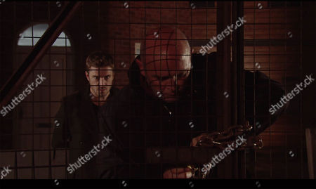 As Phelan, as played by Connor McIntyre, locks up the builder's yard, Andy Carver, as played by Oliver Mellor, appears from the shadows and hits him over the head with a brick. Phelan slumps to the ground. (Episode 9057 - Thur 15 Dec 2016)