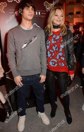 Stock Image of Louis Baines and Kate Moss