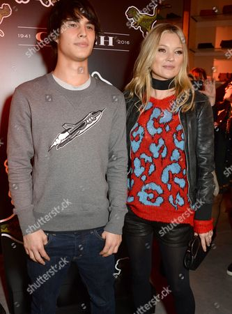 Stock Photo of Louis Baines and Kate Moss