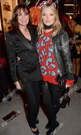 Tricia Ronane and Kate Moss