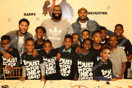 Stock Picture of Derrick Rose & Kyle O'Quinn & Carmelo Anthony