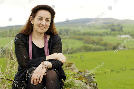 Cathy Cassidy pictured at home in the Galloway Hills, Ayrshire, Scotland, Britain