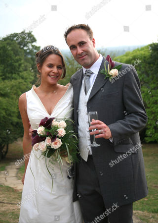 Owner Tracey Wilkinson at her own wedding when 6 months pregnant