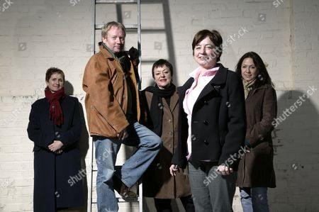 Stock Photo of The Shed screenwriting team: Eileen Gallagher (CEO), Brian Park (Managing Director), Maureen Chadwick (Creative Director), Ann McManus (Creative Director) and Liz Lake (Executive Creative Producer)