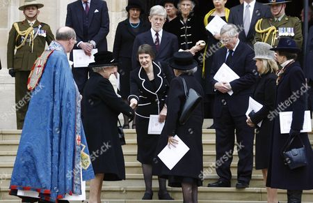 Queen Elizabeth II, Helen Clark and husband Peter Davis, Lady June Hillary, Duke of Gloucester, Sophie, Countess of Wessex and Princess Anne