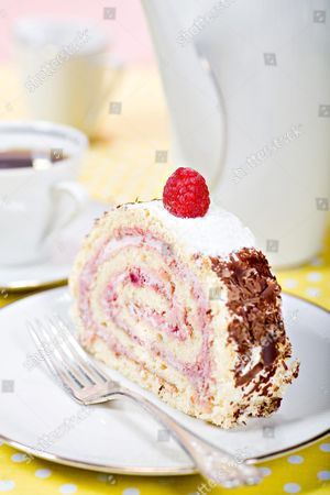 Stock Image of Piece of cake roll
