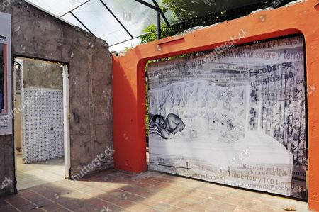 Museum and memorial at the Hacienda Napoles, former estate of drug baron Pablo Escobar, head of the Medellin Cartel, Puerto Triunfo, Antioquia, Colombia