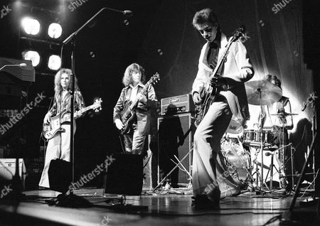 Bebop Deluxe in concert at the Mayfair Ballroom, Newcastle - Robert Bryan, Ian Parkin and Bill Nelson