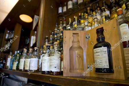 Allen's bar and restaurant and fifty-year-old Balvenie single malt scotch whisky