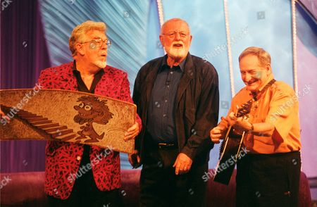 L-R.Rolf Harris, Roger Whittaker and Lonnie Donegan in 'Star Lives'
