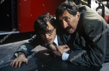 'Poirot'  - 'Hickory Dickory Dock' - Jonathan Firth as Nigel Chapman and Philip Jackson as Chief Inspector James Japp