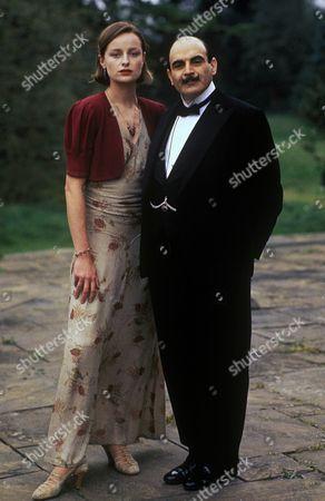 'Poirot' - 'Hercule Poirot's Christmas' - Catherine Rabett as Lydia Lee and David Suchet as Hercule Poirot