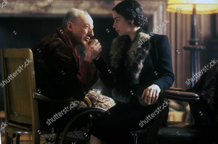 Stock Image of 'Poirot' - 'Hercule Poirot's Christmas' - Vernon Dobtcheff as Simeon Lee and Sasha Behar as Pilar Estravados