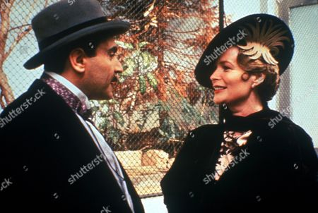 'Poirot'  - 'The Incredible Theft' - David Suchet as Hercule Poirot and Ciaran Madden as Lady Mayfield