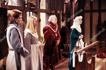 'The Lady's Not For Burning' -  Richard [Timothy Watson], Alizon Eliot [Susannah Harker], Hebble Tyson [Bernard Hepton] and Margaret Devize [Angela Thorne].