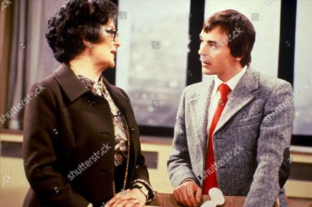 Stock Photo of 'Mind Your Language'  - Zara Nutley as Miss Courtney and Barry Evans as Jeremy Brown