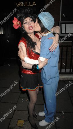 Faith Brown dressed as Amy Winehouse and Emma Griffiths