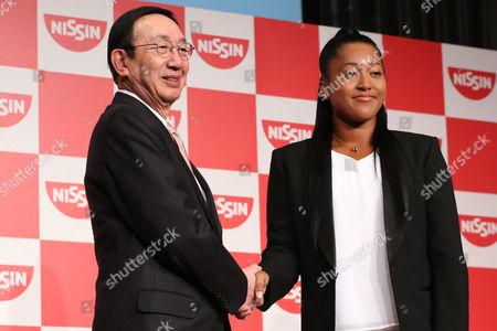 (L-R) CEO Koki Ando, Naomi Osaka