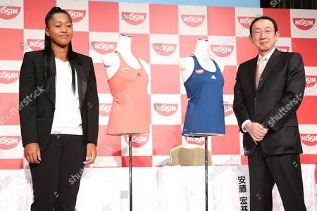 Stock Picture of (L-R) Naomi Osaka, CEO Koki Ando