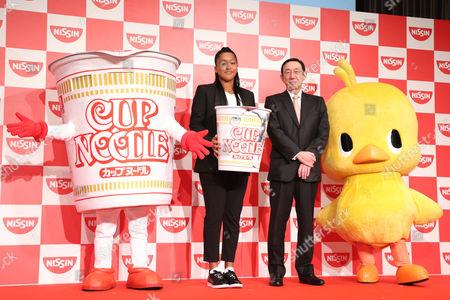 Stock Image of (L-R) Naomi Osaka, CEO Koki Ando