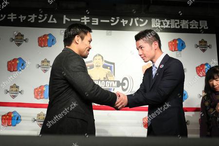 (L to R) Manny Pacquiao, Ryo Matsumoto