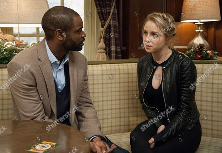 Stock Picture of The timing of the impending departure changes when Jermaine Bailey, as played by Micah Balfour, learns his job starts earlier than expected. Belle Dingle, as played by Eden Taylor-Draper, insists she's happy but Lisa is questioning. The Dingle's continue to plot to stop Belle moving to America. And throw a surprise party for Belle, hoping to convince her to stay. Will the Dingle plan work? (Episode 7687 - Tue 6 Dec 2016)