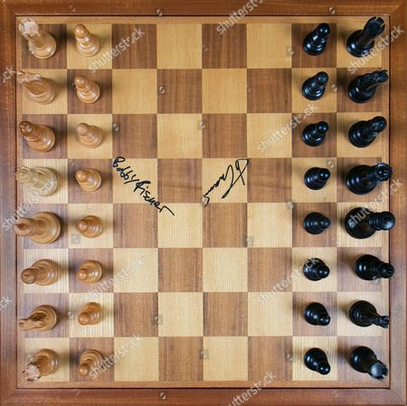 Chess board used during the 1972 match between Bobby Fischer and Boris Spassky
