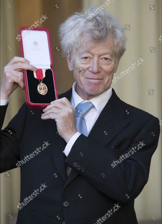 Professor Sir Roger Scruton after receiving a Knighthood at an Investiture at Buckingham Palace