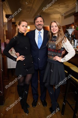 Irene Forte, Sir Rocco Forte and Lydia Forte