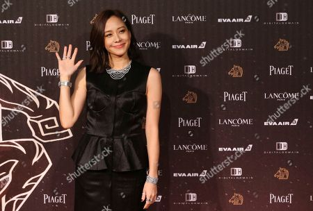 Stock Image of Karena Lam Taiwanese actress Karena Lam poses on the red carpet at the 53rd Golden Horse Awards in Taipei, Taiwan, . Lam is a guest at this year's Golden Horse Awards, one of the Chinese-language film industry's biggest annual events