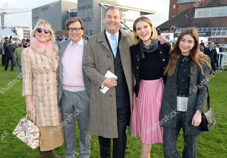 Stock Image of Theo Fennell, Louise Fennel, Harry Herbert with guests