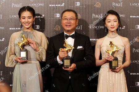 "Zhou Dongyu, Ma Sichun, Fan Wei From right, Chinese actress Zhou Dongyu, actor Fan Wei and actress Ma Sichun hold their award for Best Leading Actress and Actor at the 53rd Golden Horse Awards in Taipei, Taiwan,. They won for the film ""Soul Mate"" and ""Mr. No Problem"" at this year's Golden Horse Awards -the Chinese-language film industry's biggest annual events"