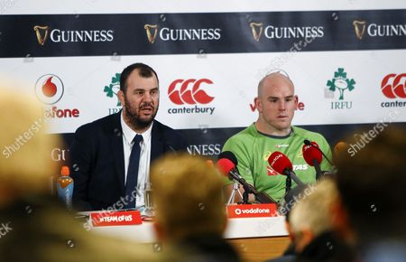 Ireland vs Australia . Australia head coach Michael Cheika and Stephen Moore