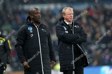 Derby County manager, Steve McClaren and assistant manager, Chris Powell