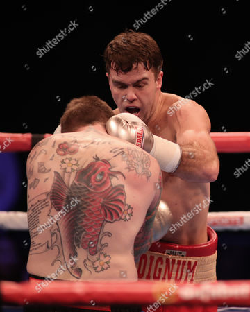 Danny Dignum and Jimmy White competing in the Big City Dreams Boxing tournament at SSE Arena, Wembley, London on 26th November 2016