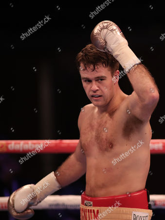 Danny Dignum celebrates winning against Jimmy White in the Big City Dreams Boxing tournament at SSE Arena, Wembley, London on 26th November 2016