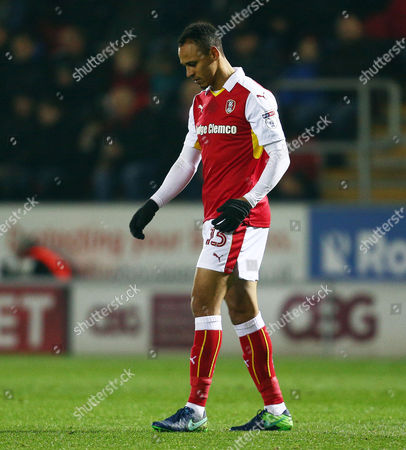 Peter Odemwingie of Rotherham United leaves the game after been sent off during the Sky Bet Championship match between Rotherham United and Leeds United played at the AESSEAL New York Stadium, Rotherham on 26th November 2016
