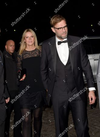 Stock Image of Jurgen Klopp and wife Ulla Sandrock