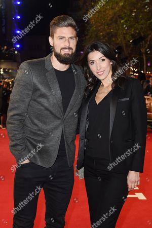 Olivier Giroud and Jennifer Giroud